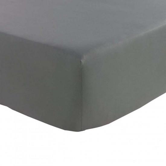 Drap Housse uni Percale 80 fils/cm² coton peigné BONNET 40 cm TOUTES TAILLES