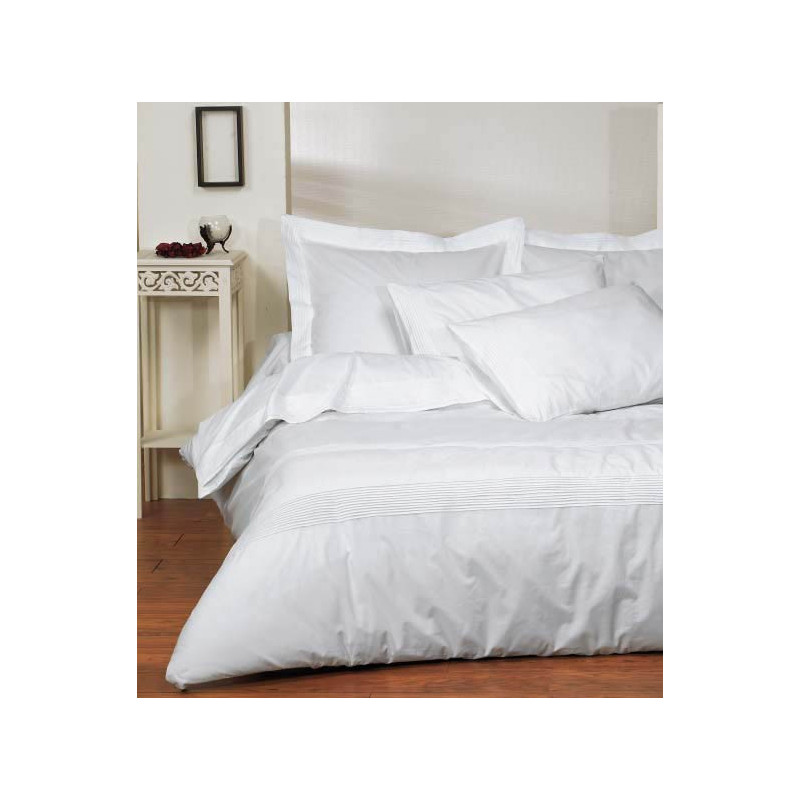 housse de couette percale solde housse de couette bicolore 100 percale de coton biais contrast. Black Bedroom Furniture Sets. Home Design Ideas